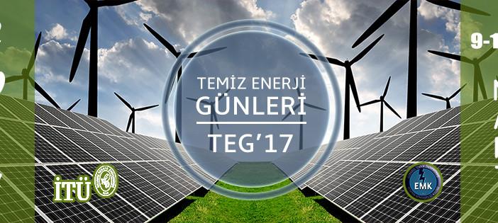 İTÜ'nün Temiz Enerji Günleri-TEG'17 bu yıl 7. kez sektörle buluşuyor!