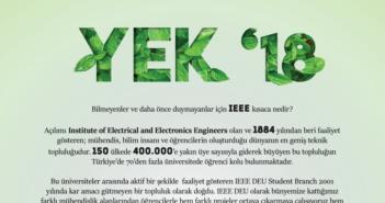 """Dokuz Eylül Üniversitesi IEEE PES Topluluğu'ndan """"Yenilenebilir Enerji Konferansı-YEK '18"""""""